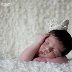 Crochet Crown Newborn Photo Prop Mini Princess Crown
