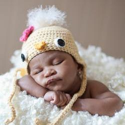 Baby Chick Hat - Newborn Photo Prop